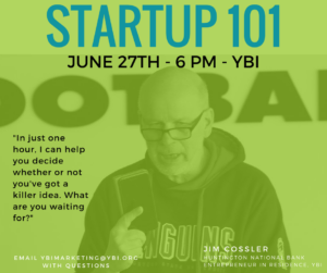Startup 101 with Jim Cossler @ Youngstown Business Incubator | Youngstown | Ohio | United States